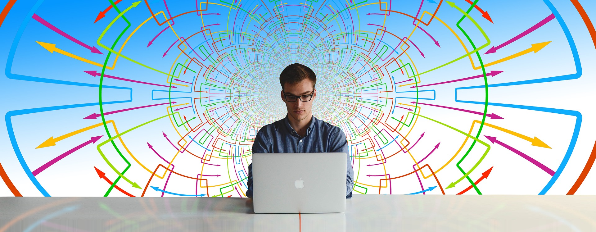 Director of Digital at his desk